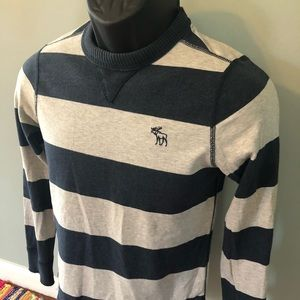 Abercrombie Fitch Stripe Shirt Long Sleeve Logo